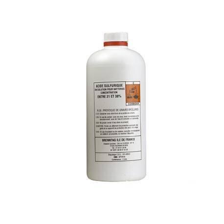 Acide batterie bouteille 1 Litre electrolyte