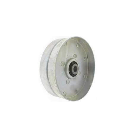 Poulie tendeur gorge plate Ø ext. 101,60 mm Ø int. 9,52 mm PGP11