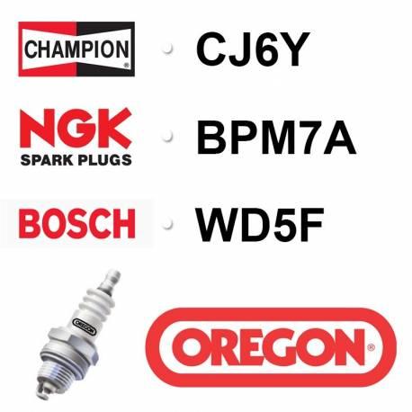 Bougie OREGON - CHAMPION cj6y NGK bpm7a BOSCH ws5f