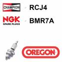 Bougie OREGON - CHAMPION rcj4 NGK bmr7a
