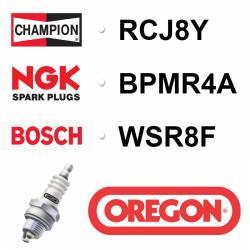 Bougie OREGON - CHAMPION rcj8y NGK bpmr4a BOSCH wsr8f