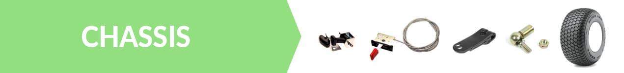 chassis rotules de direction, plaquettes de frein, essieux, bras de direction, pignons de direction, arbres de direction, attaches capot et câbles d'accélération
